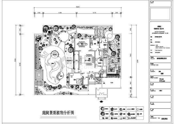 长沙中式别墅庭院带游泳池景观规划cad设计平面方案图图片