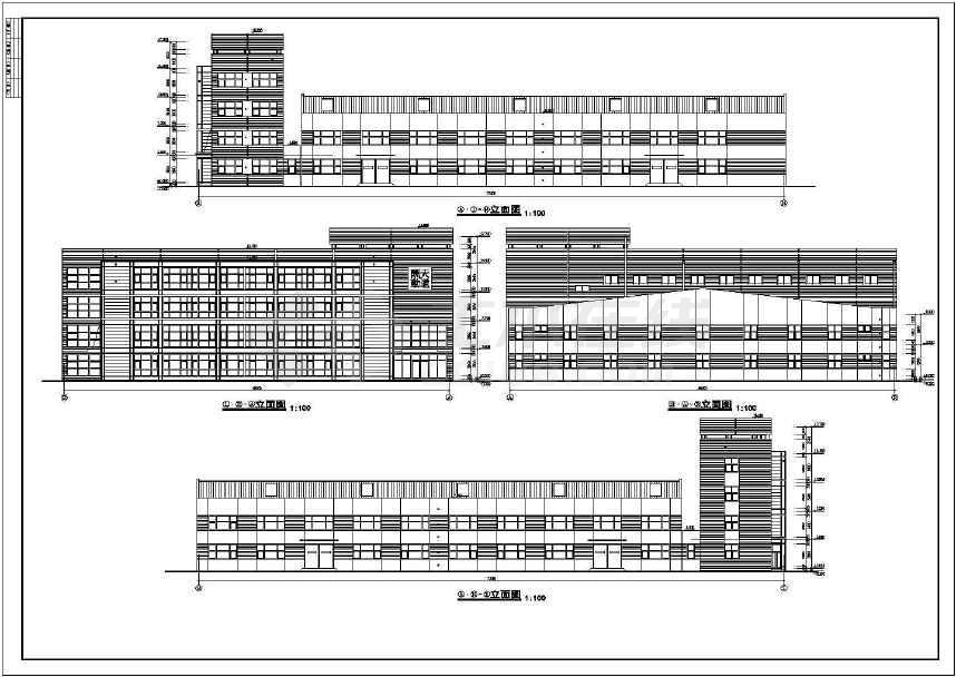 某喷泉和办公室建筑设计cad图纸(含节设计说补水厂房自动图纸设计图片