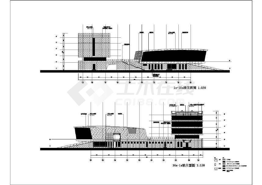 商业建筑  商业综合建筑  五层框架结构办公楼建筑cad施工图_楼梯设计