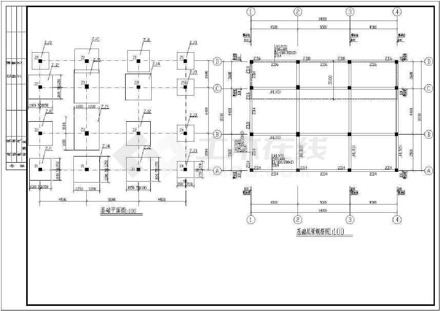 3层围墙结构别墅别墅结构设计cad施工图全套框架竹子图片
