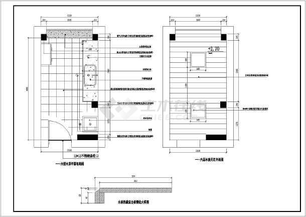 很详细的办公室装修图纸CAD铁路货车图纸钩尾框图纸图片