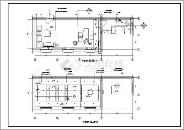 很详细的办公室装修图纸CAD图纸科尼乐快速图纸搅拌机图片