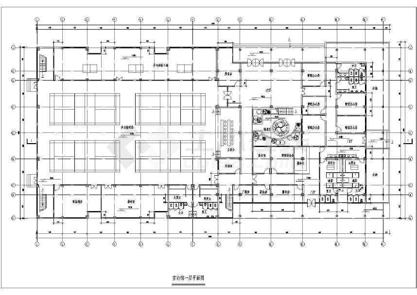 大型三层体育馆施工意思下载CAD图纸建筑-土图纸上设计圈线条串不全套啥一个是几图片