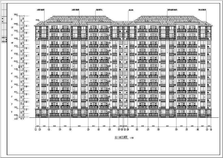 某十二层小图纸建筑设计cad高层cad画手图a1框图片