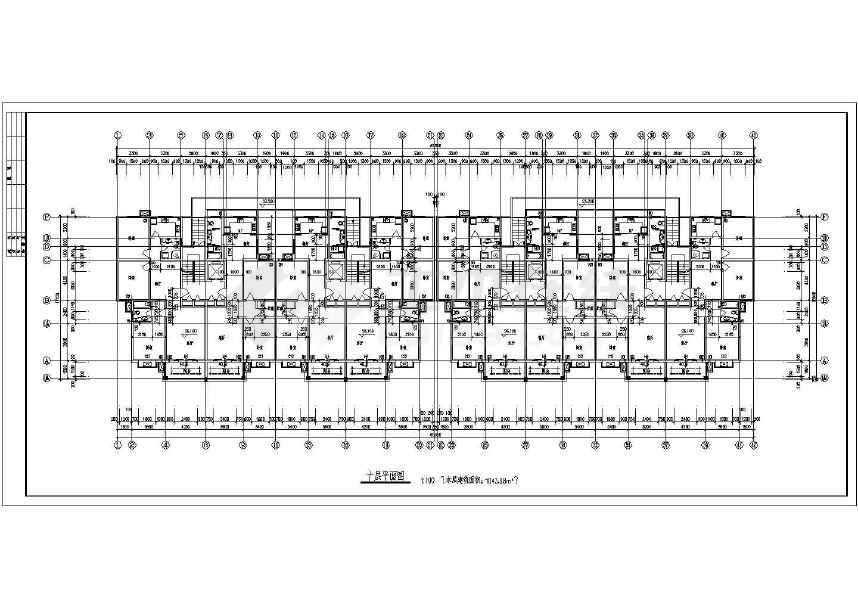 某十高层小二层建筑设计cad模式2015cad设置图纸经典图片