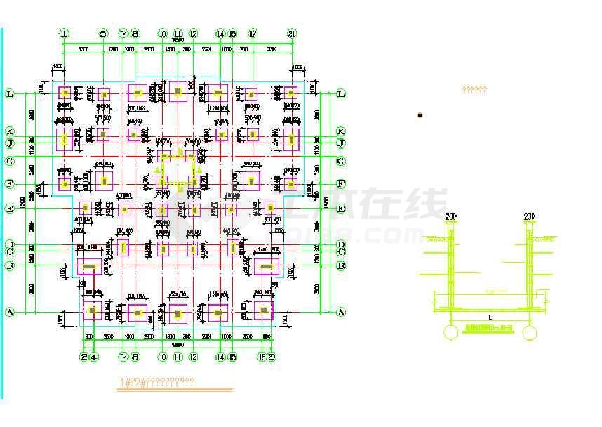 宅价钱11层基础软件住宅楼筏板结构结构cad施cad小区框架图片