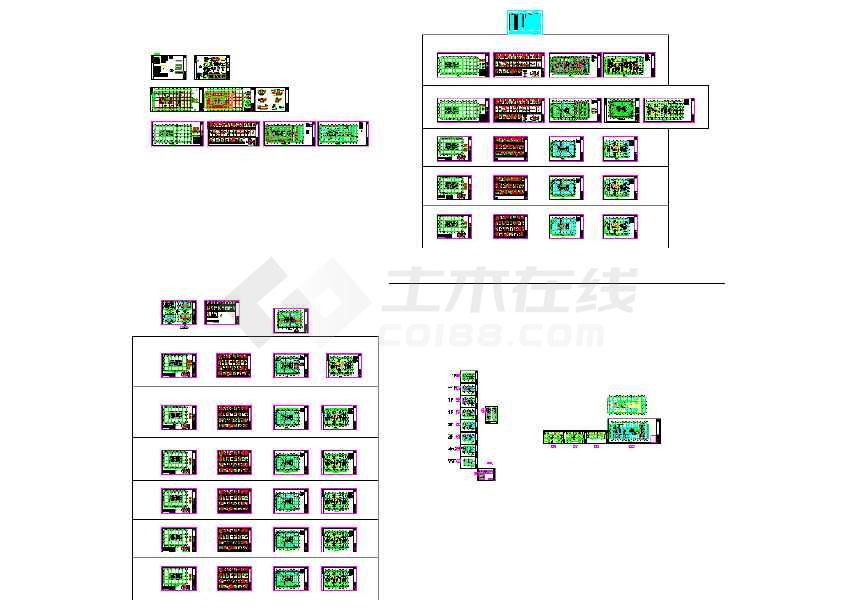 25层核心筒结构选择写字楼全套结构cad施工图cad线重叠办公图片