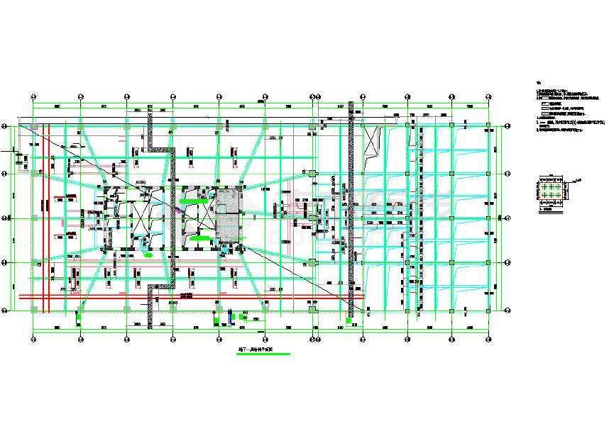 25层全套筒核心v全套写字楼结构结构cad施工图cad要角用园怎么图片
