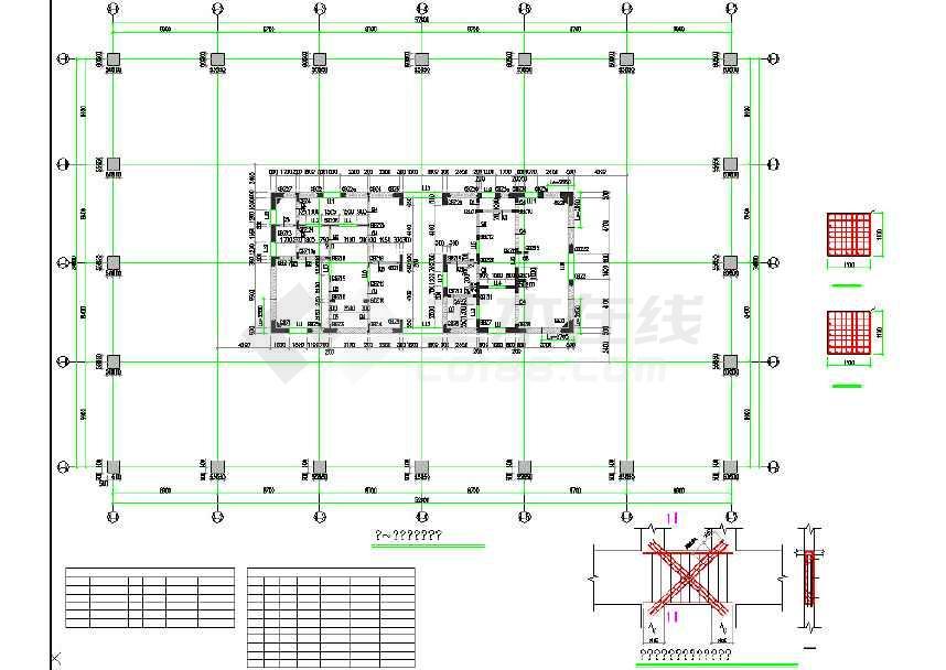 25层全套筒结构v全套写字楼核心结构cad施工图cad窗口悬浮图片