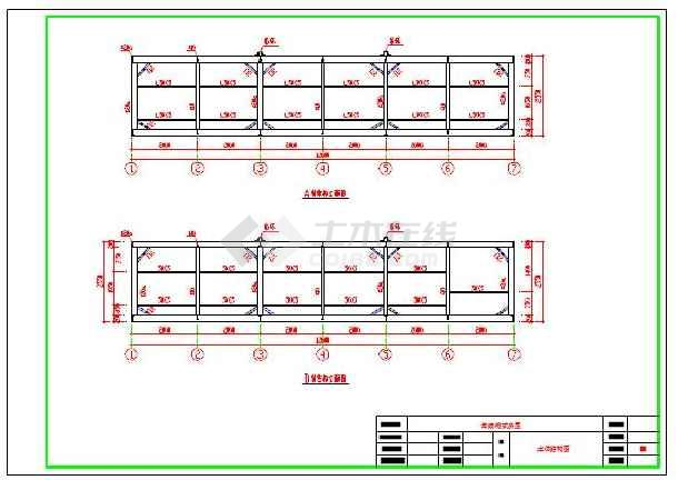 集装箱式房屋建筑结构设计cad施工图纸