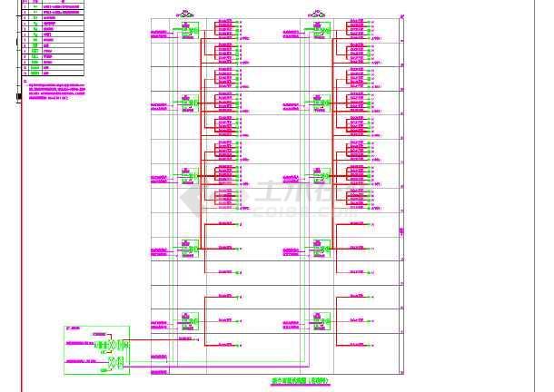 建筑智能化设计系统图及弱电系统设计cad图-图2