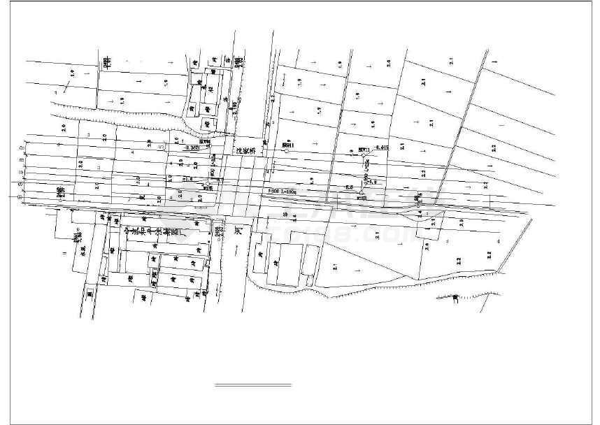 宁波城镇道路污水顶管工程结构给排水施工设计cad布置图片