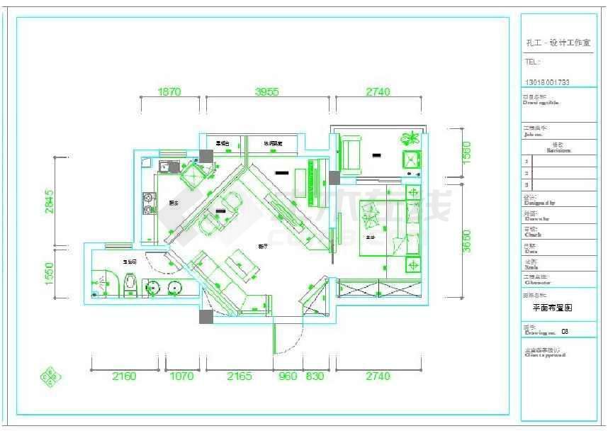108平方米住宅全套装修设计cad施工图纸