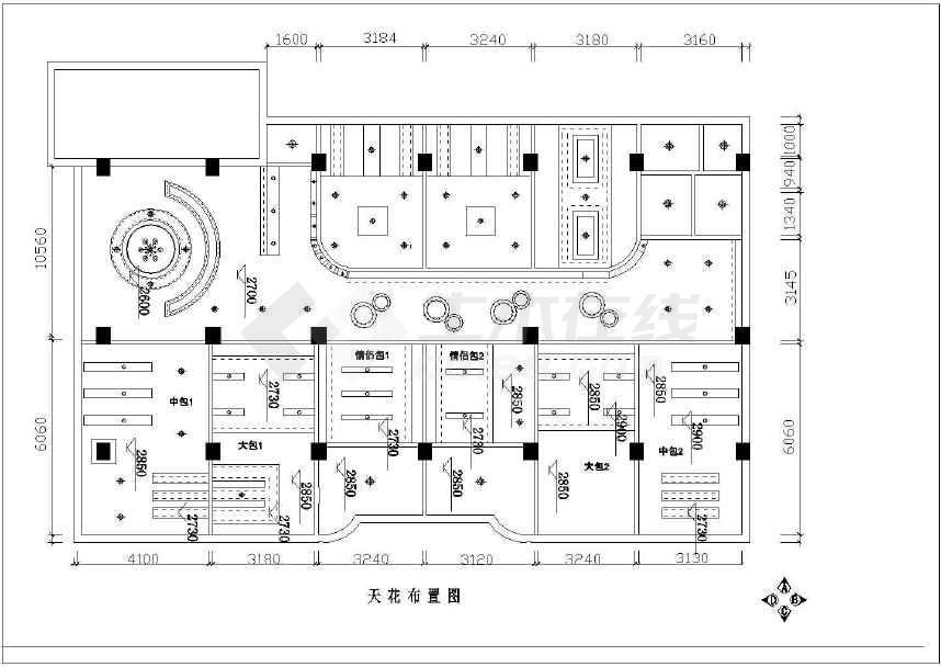 星巴克咖啡厅平面图_小型咖啡厅甜品店带包厢室内装修施工cad设计平面布置方案图纸 ...