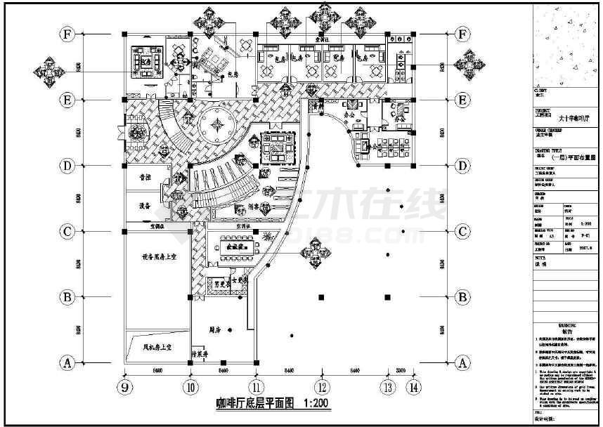图纸设计非常详细,包括一到二层平面布置图,天花布置图,地面铺装布置图片