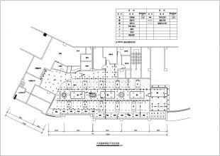 广州某海鲜大风口装饰装修施工cad设计尺寸布一般机房的新饭店平面多大图片