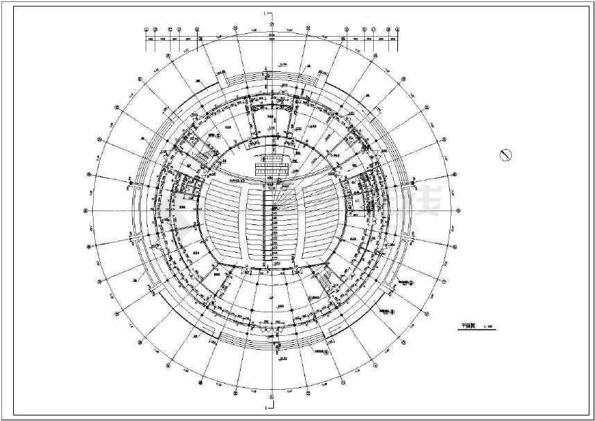 2000多平米高档圆形商务会议室建筑室内装修设计cad图图片