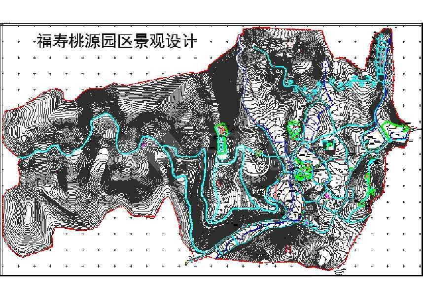 某农家乐图纸图纸规划设计CAD景观下载720htcs720720t控灯园区图片