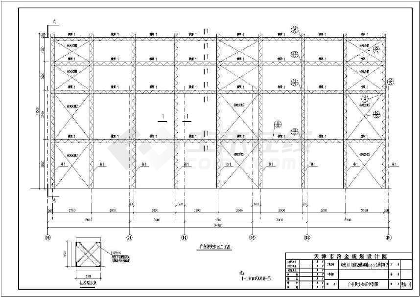 天津建筑屋顶11米户外广告牌钢结构设计施工战列舰衣阿华图纸号图片