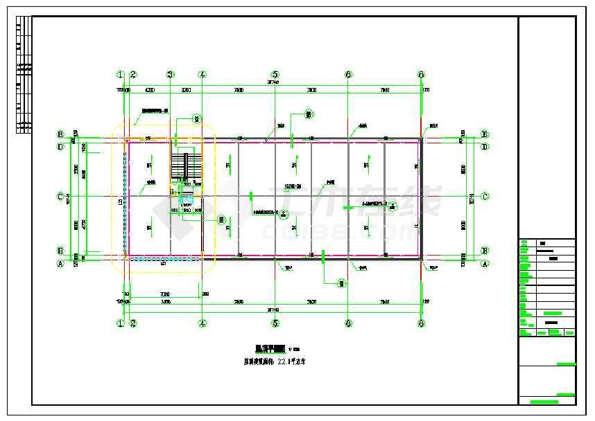 浙江省某地某3层办公综合楼建筑设计施工图-图3