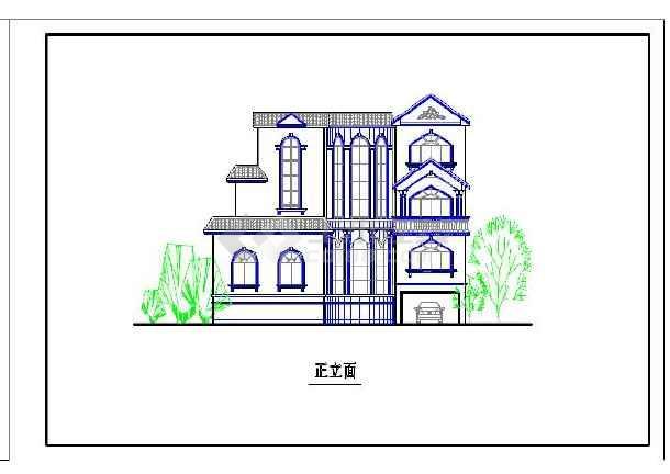 8套农村别墅设计cad施工图纸,图纸包括建筑平面图,立面图,剖面图等