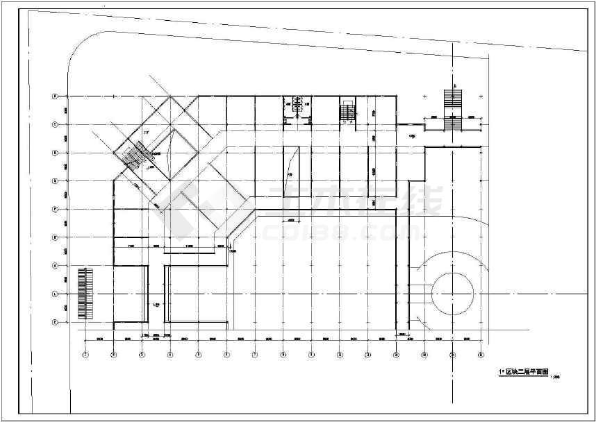 某三层娱乐中心建筑cad设计图纸(标注详细)