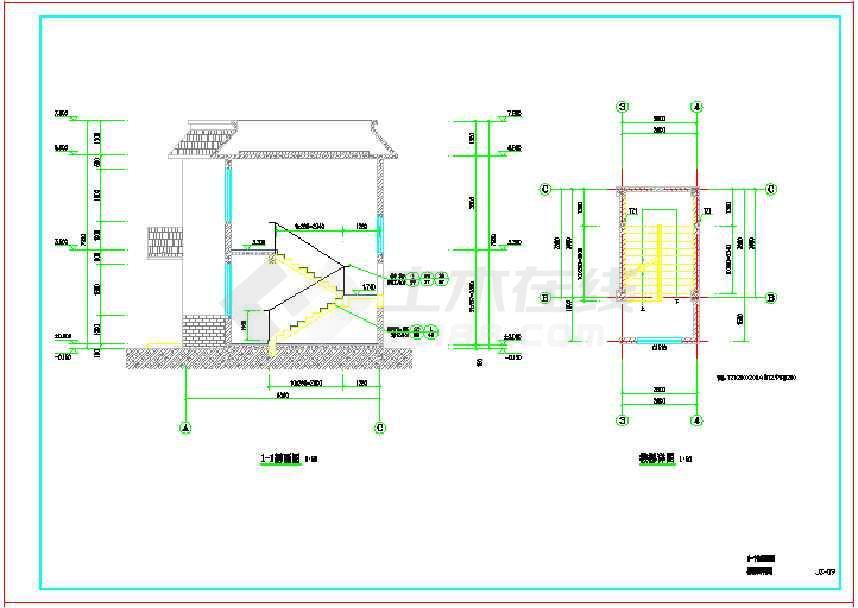 图纸 建筑图纸  医疗建筑  医院设计  某干净整洁两层乡村卫生站建筑
