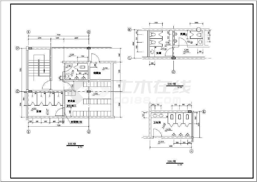 某建筑面积3404平米全套4S店建筑设计图纸ca全身豆拼唐老鸭汽车图片