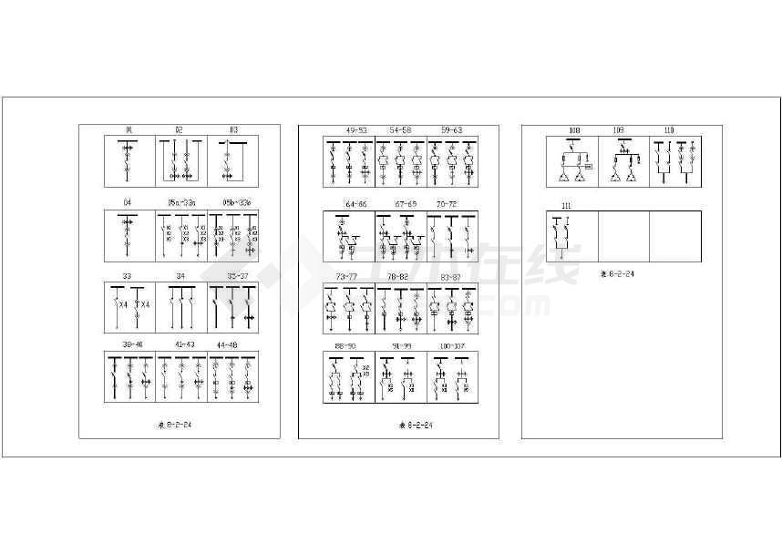 图例开关柜CAD电气_低压图纸符号图纸图108节点平米烧结机图片