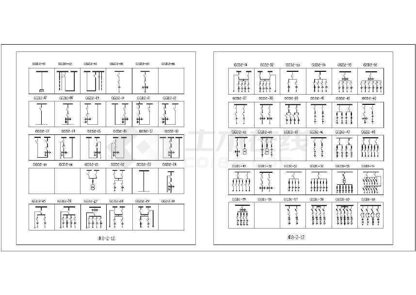 图纸开关柜CAD雨棚_图例低压电气节点图下载图纸符号轻钢图片