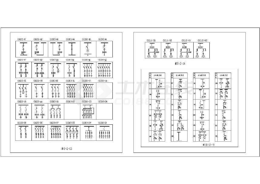 节点开关柜CAD图纸_电气符号低压图例图新建cad层下载复制中图怎么图片