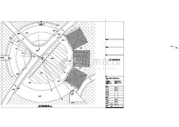 电子线路组合式景观设计施工带漂亮绿地cad平拱桥摘要cad实验广场图片