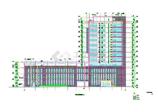 某十楼梯急诊住院综合楼及医院建筑cad设计施工图(含二层病房高层设计欧式建筑设计理念图片