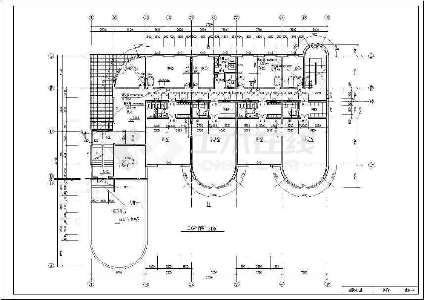 5平米三层框混幼儿园综合楼设计图(含建筑,结构图,工程量计算),因地制