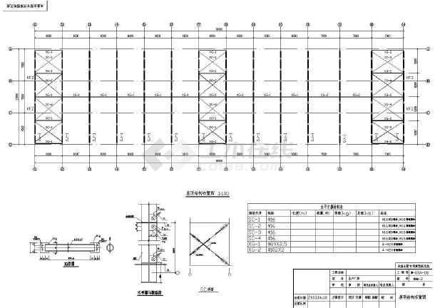 1800平米轻钢结构厂房施工设计cad平面布置图(长81m宽21m,檐口高4.