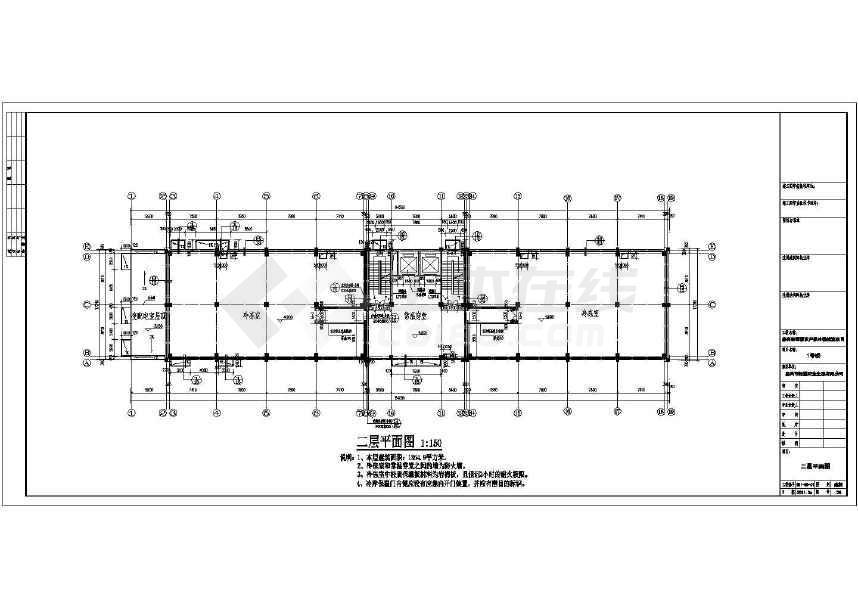 某三层框架结构冷库建筑设计cad施工图图片