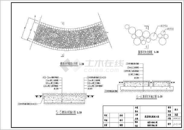 花架景观景门及地面铺装公园施工设计cad常用cad操作平面图片