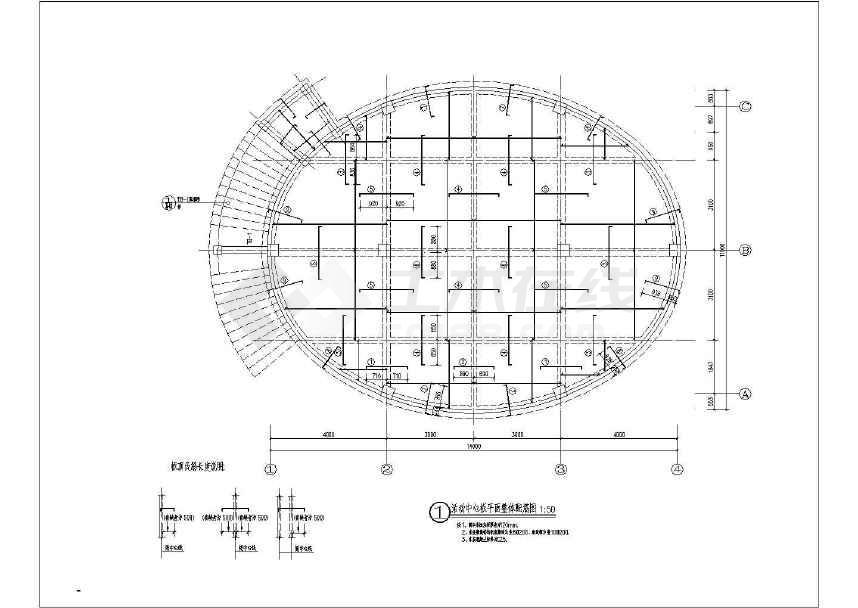 美丽乡村活动中心单体建筑施工CAD设计图-图2