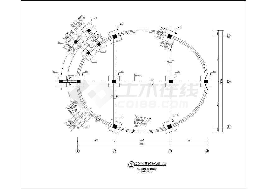美丽乡村活动中心单体建筑施工CAD设计图-图3