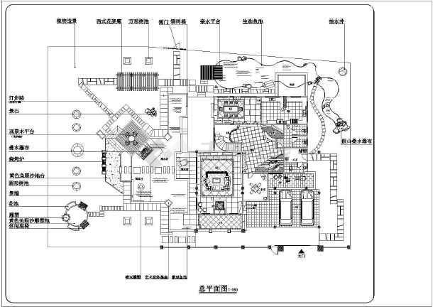 庭院别墅花园平面别墅规划设计cad景观布置图金湖戴楼小私人图片