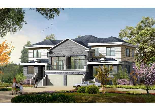 2017最新50套超赞的别墅施工图 含效果图 两层 两层半 三层 三层半
