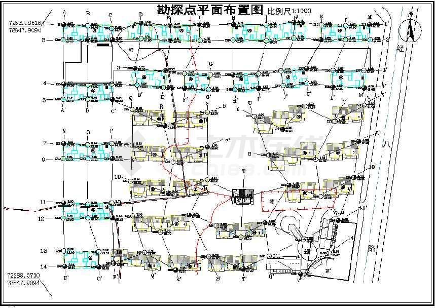 某小区岩土工程设计报告CAD勘察图纸图纸典设图片