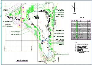 平面带状公园绿化设计cad景观布置图(带停车路cad2012怎么办退闪图片