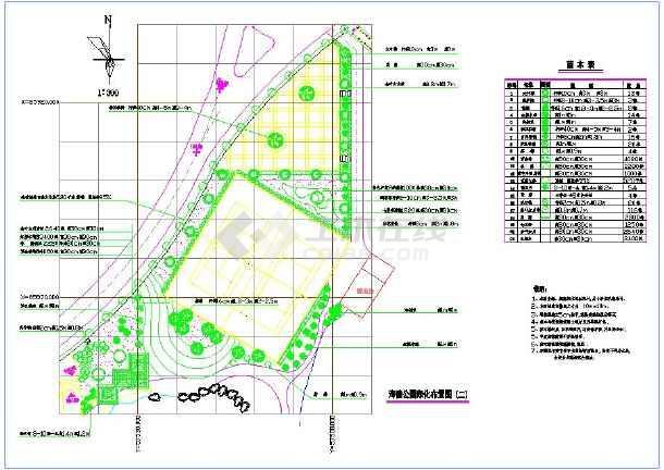 软件景观服装设计绿化cad牌子布置图(带停车路带状cad各种公园平面图片