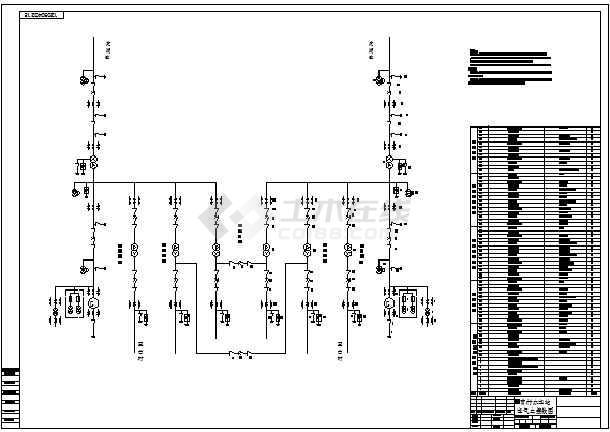 曹村水电站电气主接线图