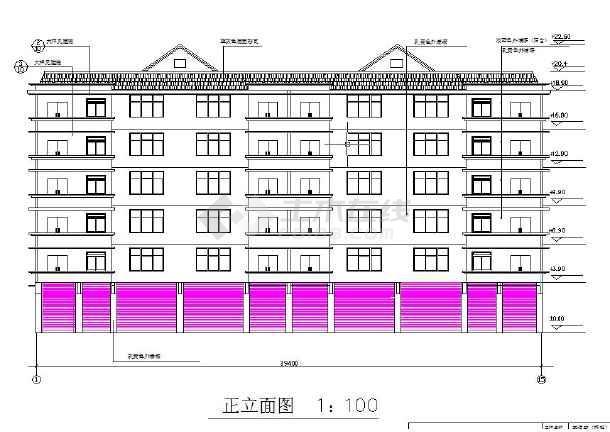 六层框架结构办公楼毕业设计(含计算书,建筑、结构图)-图1