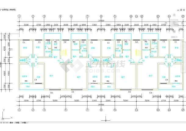 六层框架结构办公楼毕业设计(含计算书,建筑、结构图)-图2