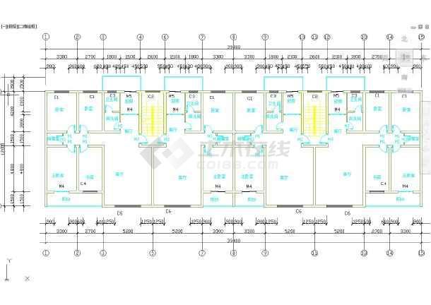 六层框架结构办公楼毕业设计(含计算书,建筑、结构图)-图3