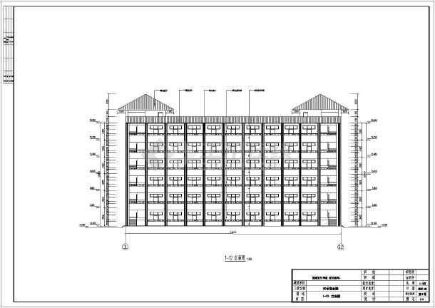 六层框架结构师范学院多层宿舍楼建筑结构cad设计施工图片