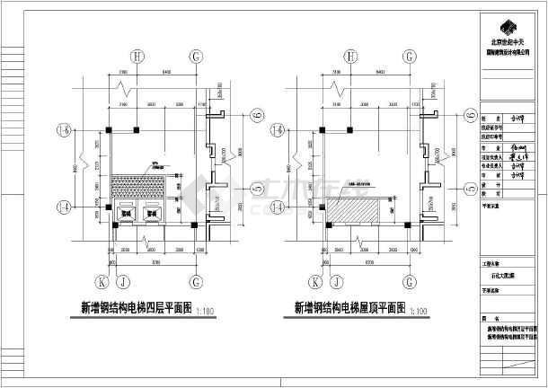 增井_某钢结构电梯井道设计cad施工图_cad图纸下载-土木在线